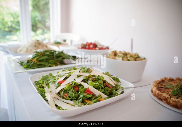 Party Food Table Garden Buffet Stock Photos Party Food