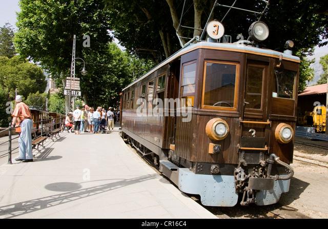 Soller Train Majorca Stock Photos Soller Train Majorca Stock Images A