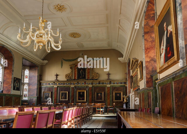 Interior Of Trinity College Hall Used As A Dining Room Oxford University