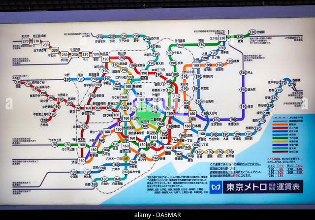 Tokyo Map Stock Photos Tokyo Map Stock Images Alamy - Japan map 2017