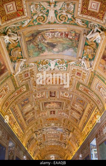 Vatican gallery of maps stock photos vatican gallery of maps ceiling of gallery of maps inside vatican museum unesco world heritage site vatican gumiabroncs Image collections