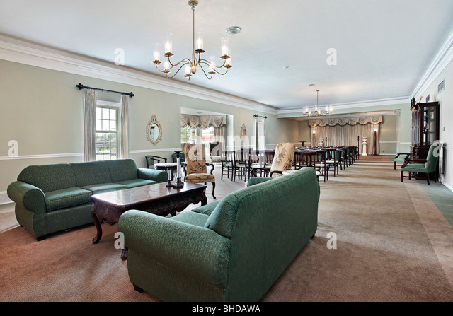 View inside funeral home with couches and chairs   Stock ImageFuneral Home Stock Photos   Funeral Home Stock Images   Alamy. Funeral Home Chairs. Home Design Ideas