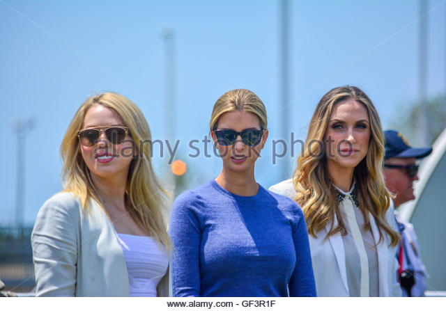 Cleveland,United States. July 27th, 2016. USA, Cleveland: Donald Trump's daughters, Tiffany Trump (left) and - Stock Image