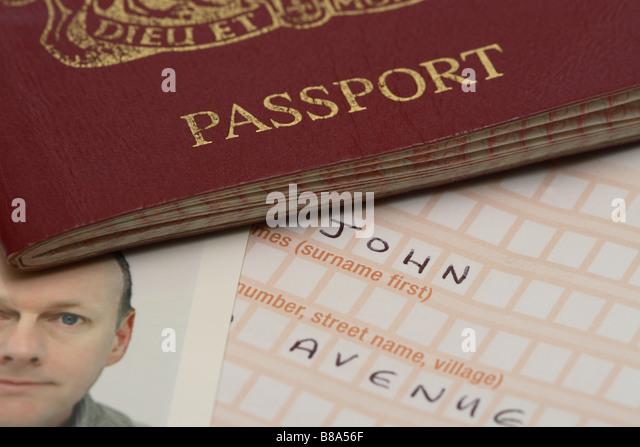 Passport Photograph Application Stock Photos Passport Photograph