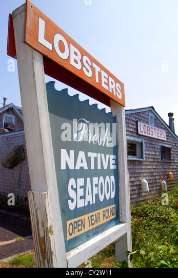 Sign on fish market in stock photos sign on fish market for Cape cod fish market