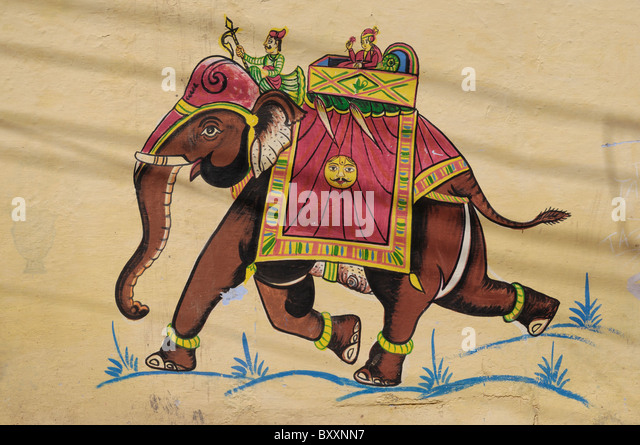 Rajput painting stock photos rajput painting stock for Examples of mural painting