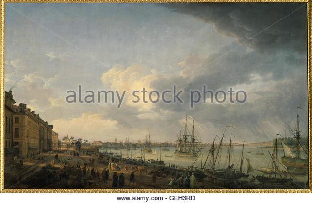 Le port musee stock photos le port musee stock images alamy - Joseph vernet le port de bordeaux ...