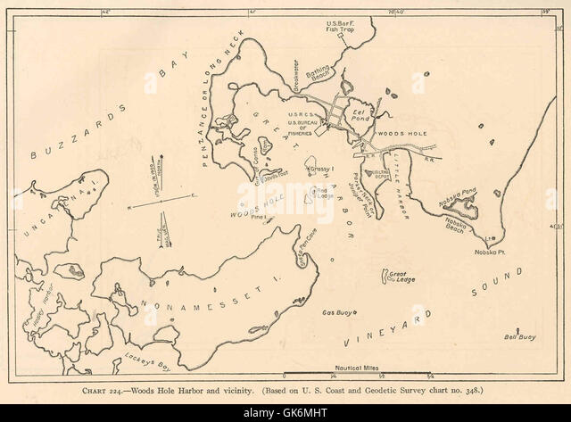 40207 woods hole harbor and vicinity based on u s coast and geodetic survey chart no348