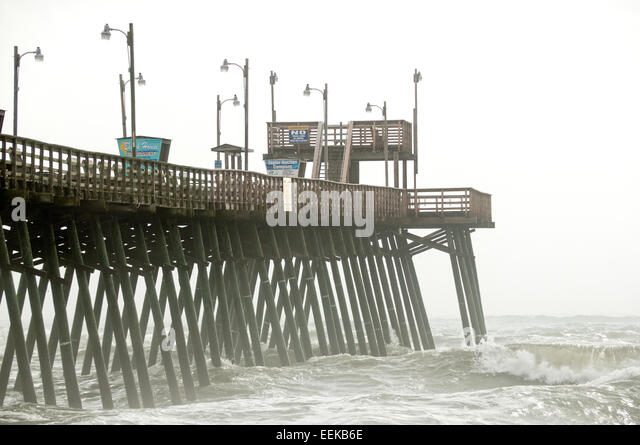 Bogue banks stock photos bogue banks stock images alamy for Bogue inlet fishing pier emerald isle nc