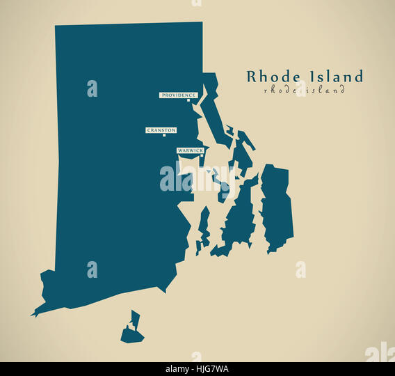 Map Of Rhode Island State Stock Photos Map Of Rhode Island State - Rhode island us map