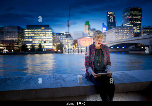 Image result for photo of woman on bridge; night; thames;