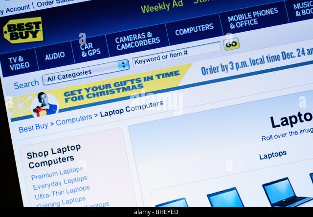 Best Buy Website Stock Image