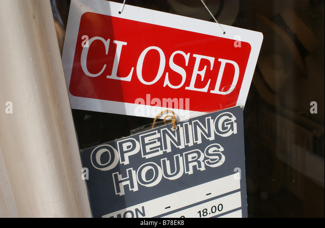 Sorry Closed Sign On Door Stock Photos & Sorry Closed Sign ...