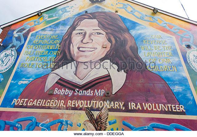 Bobby sands mural belfast stock photos bobby sands mural for Bobby sands mural belfast