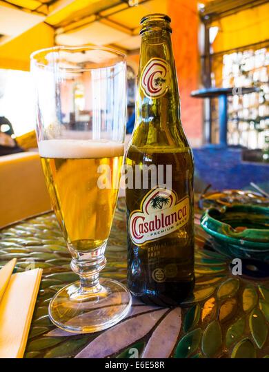 Casablanca beer stock photos casablanca beer stock for Agadir moroccan cuisine aventura fl