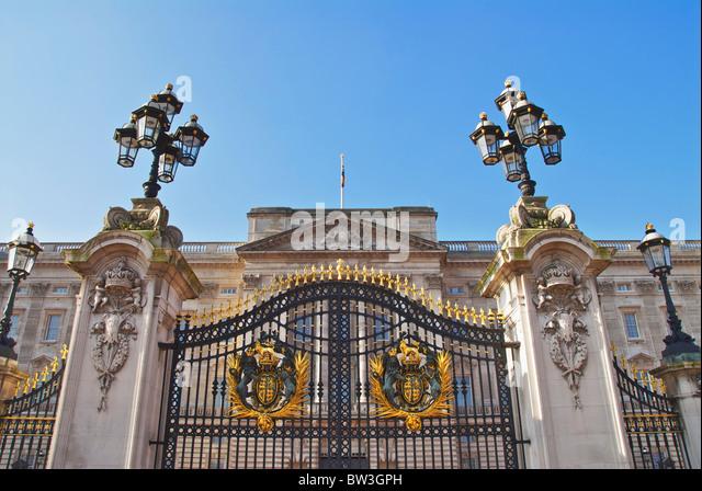Buckingham palace gates stock photos