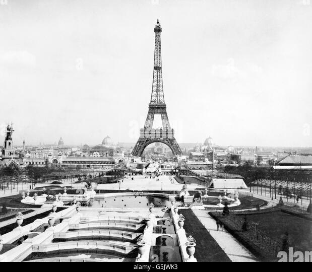 Paris 1889 exposition stock photos paris 1889 exposition for Expo paris mars