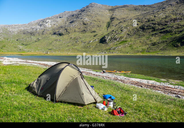 Wild c&ing at the head of Loch Nevis Knoydart Scotland as part of a & Camping Sea Uk Stock Photos u0026 Camping Sea Uk Stock Images - Alamy