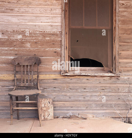 The USA New Mexico Wooden House Wall Window Chair Old