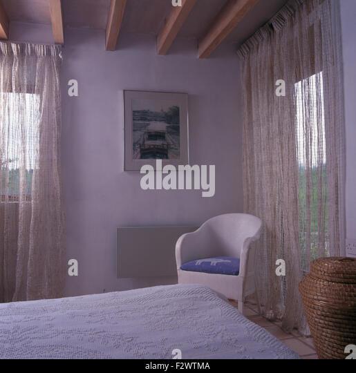 Interiors Bedroom Traditional Beams Stock Photos