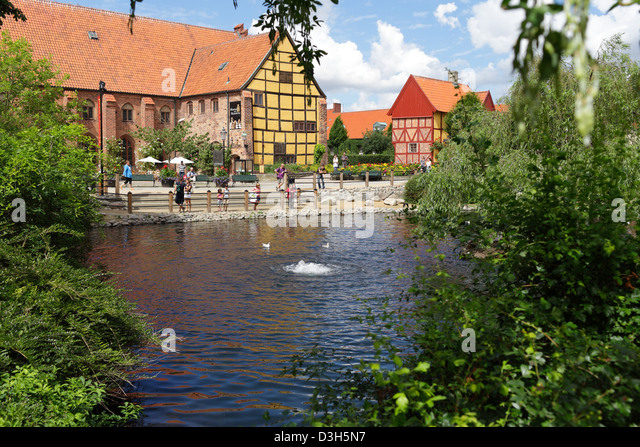 Half timbered sweden stock photos half timbered sweden for Garden pool ystad