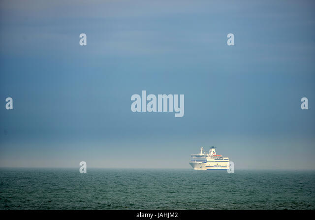Brittany Ferries, Britagne, coming into Portsmouth, Hampshire, UK - Stock Image