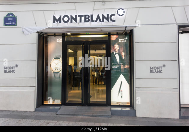 montblanc store stock photos montblanc store stock. Black Bedroom Furniture Sets. Home Design Ideas