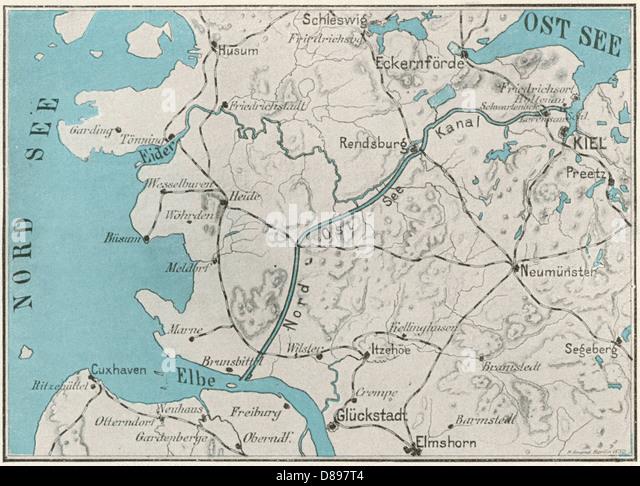 Kiel Canal Map Stock Photos Kiel Canal Map Stock Images Alamy