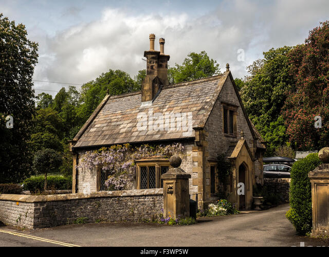 Small Stone Cottage In Derbyshire England   Stock Image