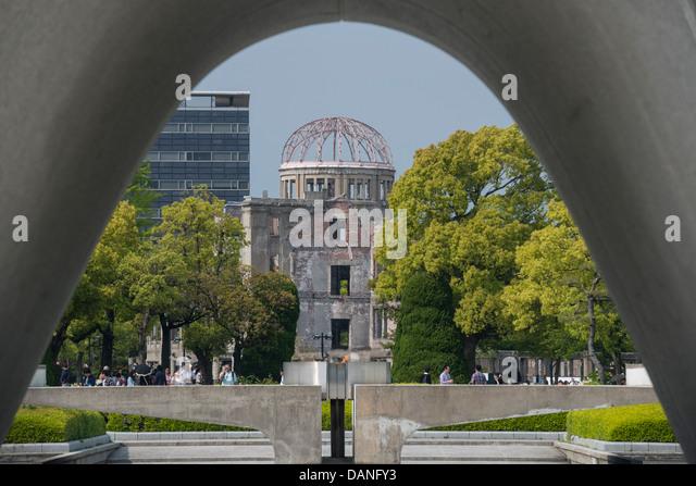 Hiroshima Peace Memorial Park Stock Photos & Hiroshima Peace Memorial Par...