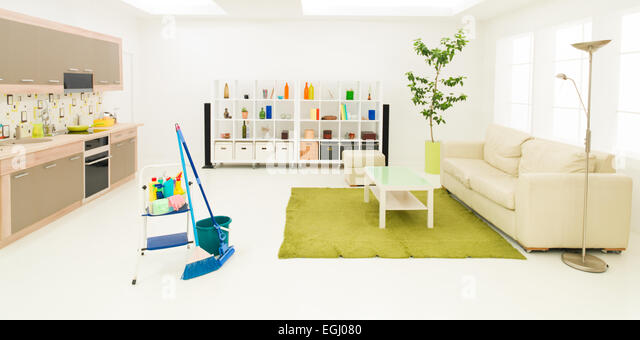 Clean tidy room home stock photos clean tidy room home for Clean modern living room