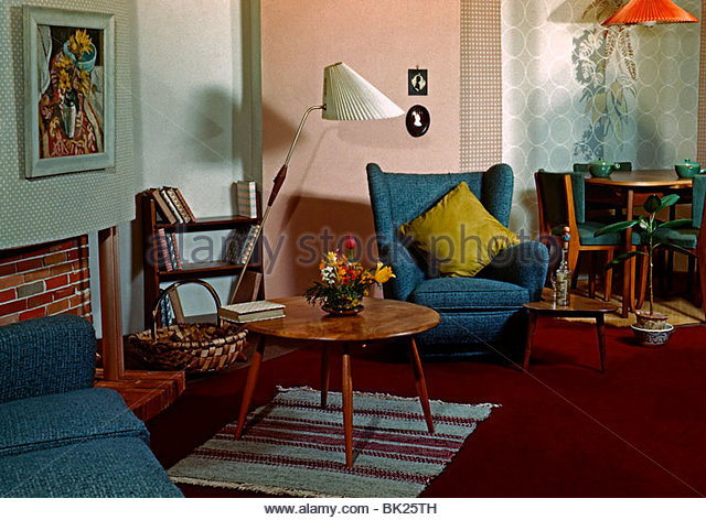 retro living room stock photos & retro living room stock images