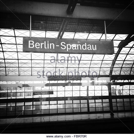 train station berlin spandau stock photos train station. Black Bedroom Furniture Sets. Home Design Ideas