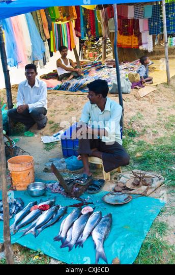 Indian fish market stock photos indian fish market stock for Local fish market
