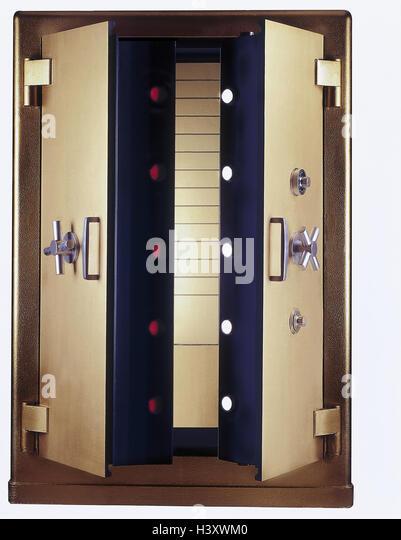 Safe deposit, opened safe, safe, openly, security, protection, money,