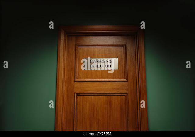 Door to managing director\u0027s office - Stock Image & Door Managing Directors Office Stock Photos \u0026 Door Managing ...