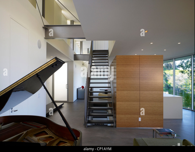 Grand Piano In Double Height Open Plan Entrance Hall Of Briarcrest House Beverly Hills