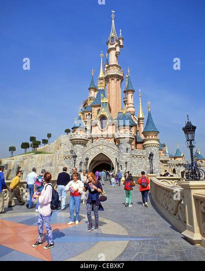 Disneyland paris fantasyland stock photos disneyland for Amusement parks in paris
