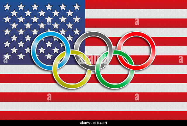 Rings And Torch Olympic Symbol