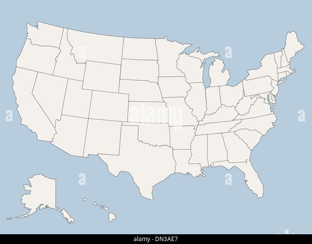 Vector Map Of The United States Of America Stock Image