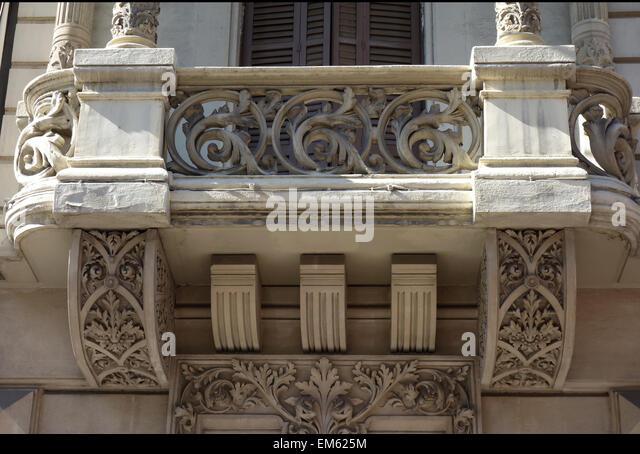 Stone balcony stock photos images