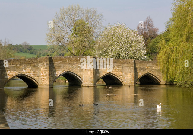 Bakewell United Kingdom  City pictures : Bakewell bridge and River Wye, Derbyshire, England, United Kingdom ...