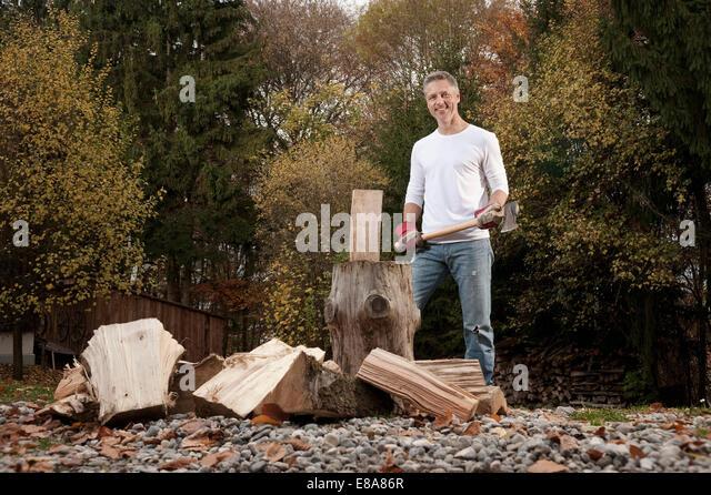 Chopping wood axe stock photos amp chopping wood axe stock images