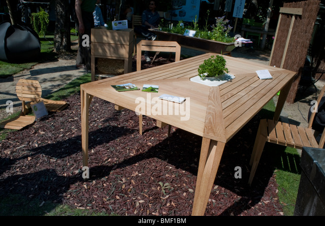 Garden Furniture France paris france wooden table garden stock photos & paris france