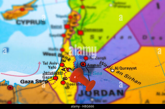 Israel Jerusalem Map Stock Photos Israel Jerusalem Map Stock - Jerusalem on world map