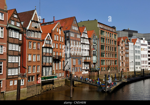 germany hamburg shopping street stock photos germany hamburg shopping street stock images alamy. Black Bedroom Furniture Sets. Home Design Ideas
