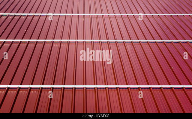Corrugated sheets stock photos corrugated sheets stock for Modern roofing materials