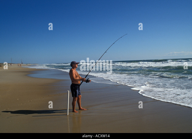 Carolina beach nc fishing stock photos carolina beach nc for Fishing outer banks nc