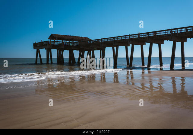 Tybee island georgia stock photos tybee island georgia for Tybee island fishing pier