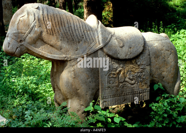 Carved horse stock photos images alamy